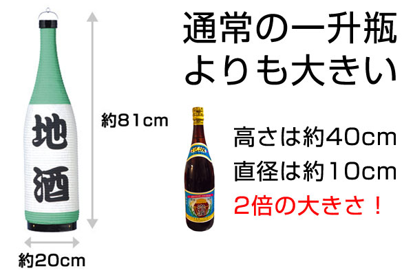 通常の一升瓶より2倍大きい