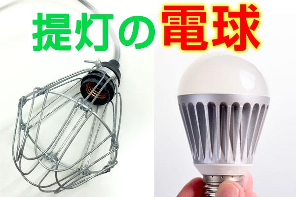 提灯の電球