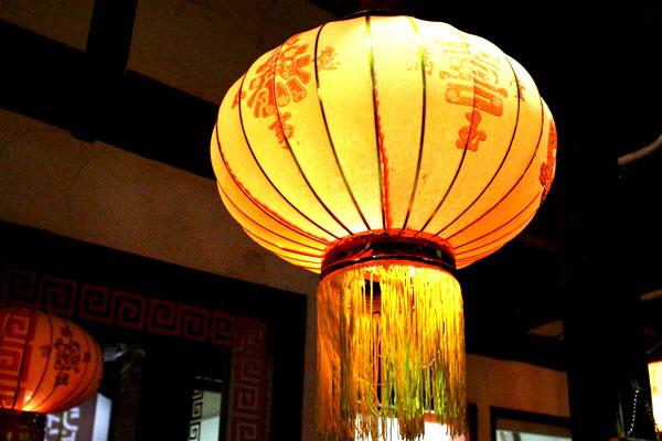 中華料理店の提灯